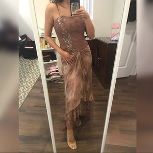 2000s Sue Wong Beaded dress gown